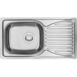 Zlewozmywak stalowy 1-komorowy z ociekaczem + bateria kuchenna Deante DOPPIO ZENB0113