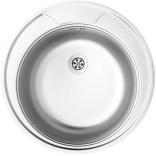 Zlewozmywak stalowy okrągły 1-komorowy 48 cm bez ociekacza Deante TWIST ZEU 0810 satyna