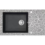 Zlewozmywak szklano-granitowy 1-komorowy z ociekaczem Deante CAPELLA ZSC GN2C grafitowy metalik