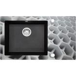 Zlewozmywak szklano-granitowy 86x50 Deante CAPELLA DIAMENT ZSC GC2C grafitowy metalik