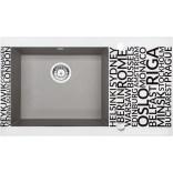 Zlewozmywak szklano - granitowy 86x50 Deante CAPELLA DIAMENT ZSC SA2C szary metalik