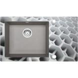 Zlewozmywak szklano - granitowy 86x50 Deante CAPELLA DIAMENT ZSC SC2C szary metalik