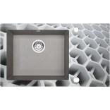 Zlewozmywak szklano-granitowy 86x50 Deante CAPELLA ZERO ZSC SC1C szary metalik