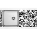 Zlewozmywak szklano-stalowy 86x50 Deante PALLAS DIAMENT ZSP 0A2C satyna