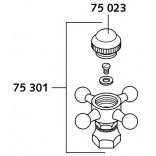 Znaczek porcelanowy wody ciepłej Kludi 7502305-00