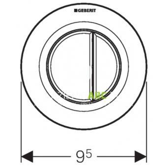 przycisk uruchamiaj cy podtynkowy do wc dwudzielny pneumatyczny r czny geberit typ 01. Black Bedroom Furniture Sets. Home Design Ideas
